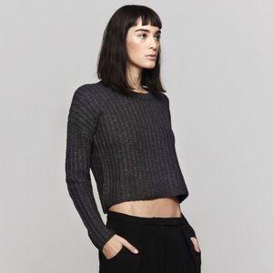 Theory Cropped Knit Sweater